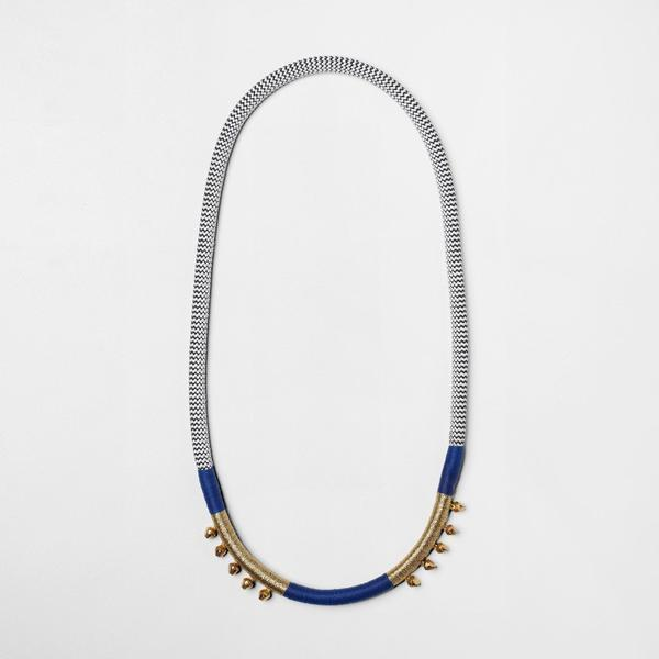 ROYAL BLUE BELL NECKLACE