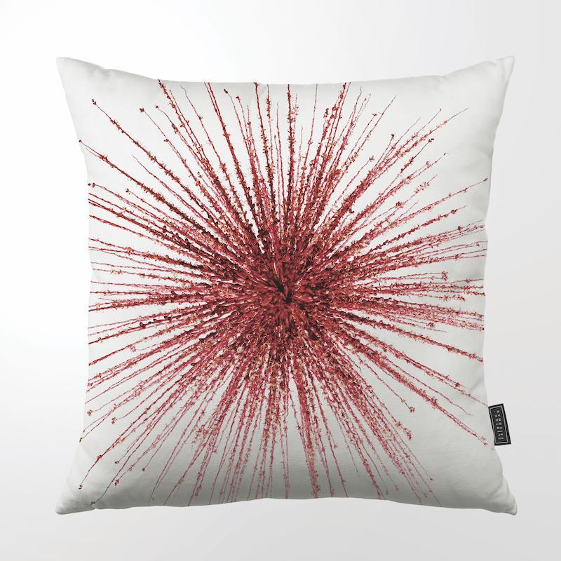 CLINTON FRIEDMAN USA NEW YORK PURPLE EXPLOSION THROW PILLOW