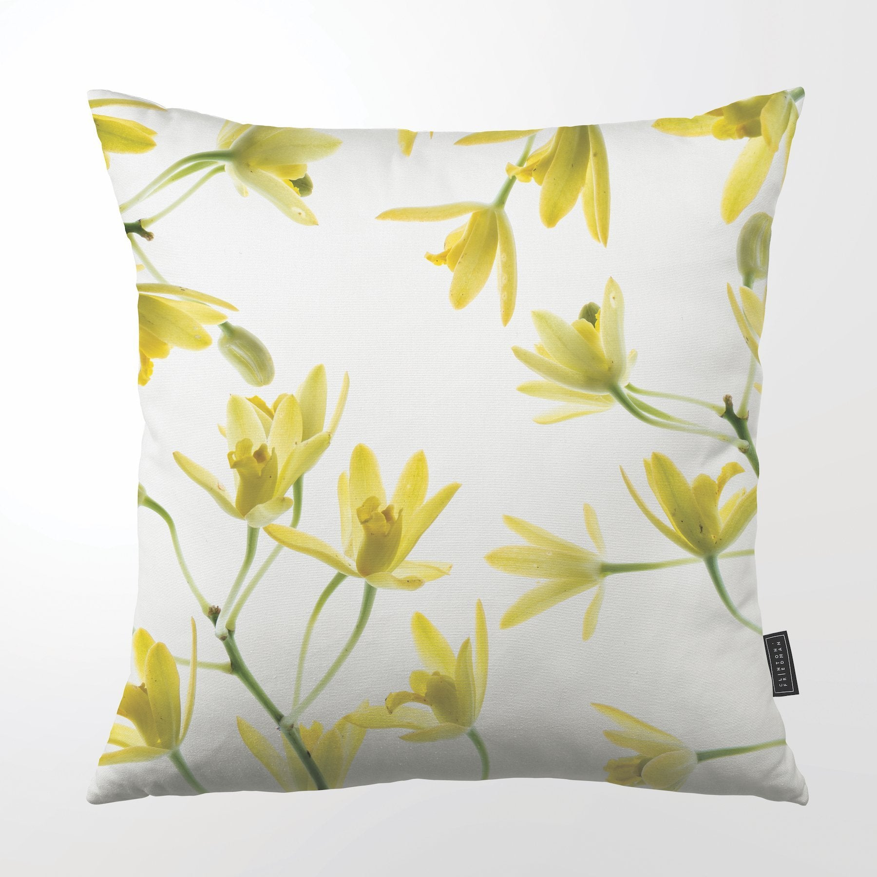 CLINTON FRIEDMAN USA NEW YORK AFRICAN ORCHID THROW PILLOW