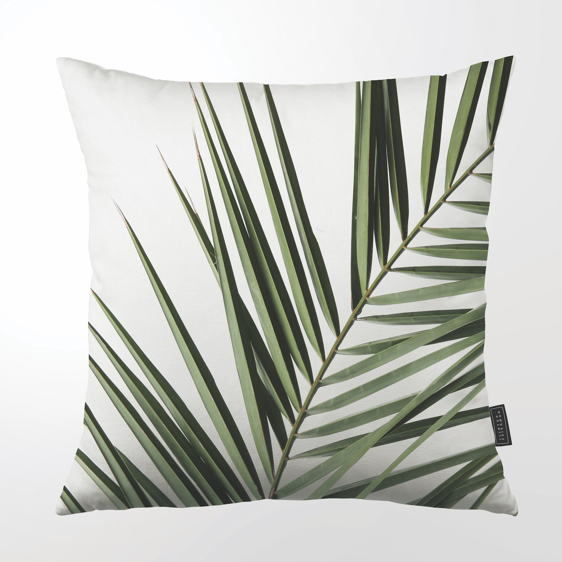 CLINTON FRIEDMAN USA NEW YORK COASTAL PALM FROND 1 THROW PILLOW
