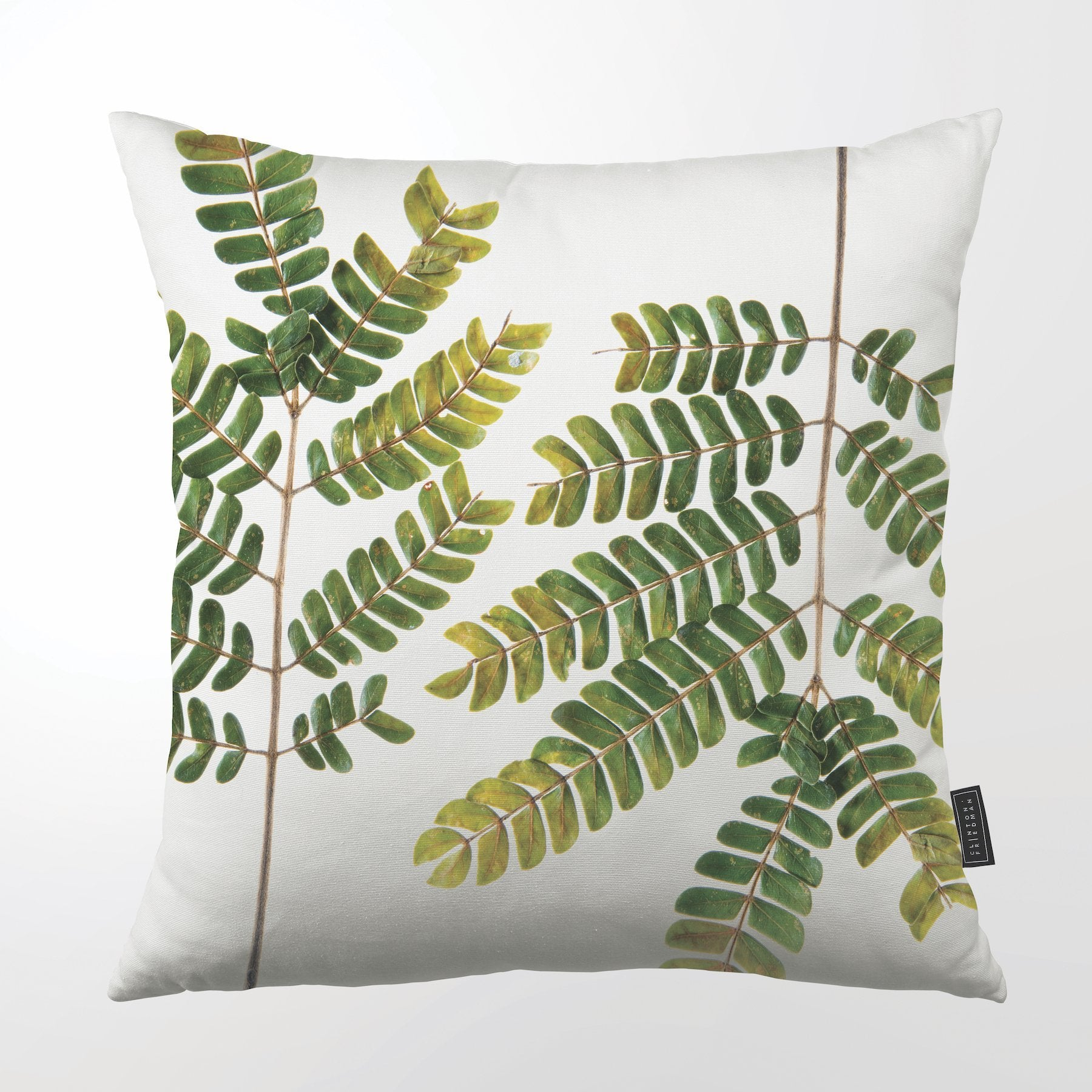 SC600Z ALBIZIA BRANCH THROW PILLOW CLINTON FRIEDMAN NEW YORK USA