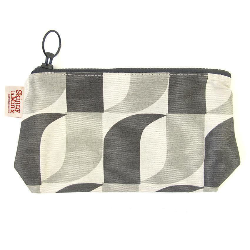 APERTURE STASH BAG by SKINNY LAMINX. A great little wallet, or handy compartment for lipsticks and other bits & bobs. Lined with a pop of complementary colour, and closes with a coordinating chunky YKK zip.