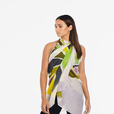 LALELA SCARF USA NEW YORK MAMA MUSTARD SUMMER SCARF