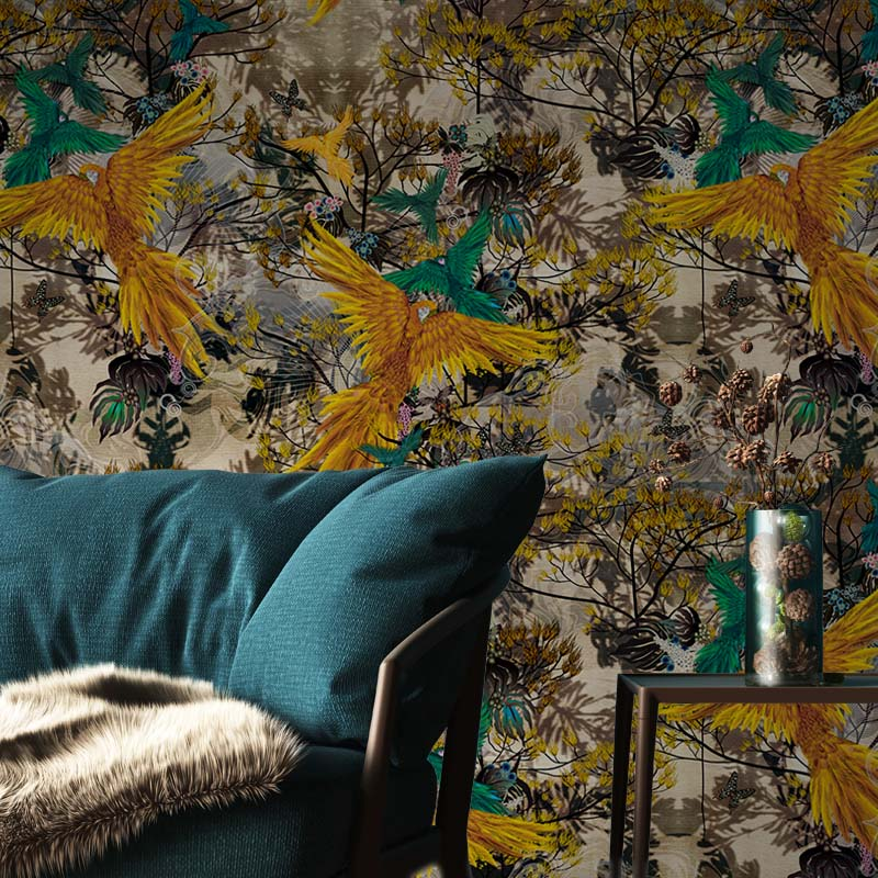 Savanah Parrots by Robin Sprong at SARZA. Botanical, Robin Sprong, Sarah Arnett, Wallpaper, Wildlife