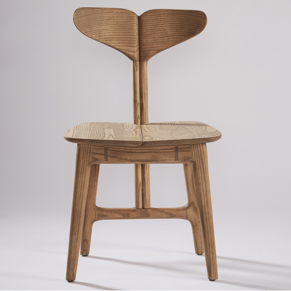 WHALE TAIL DINING CHAIR IN OAK-SHOP by Meyer Von Wielligh at SARZA. Chairs, dining chair, furniture, Meyer Von Wielligh, oak, whale tail