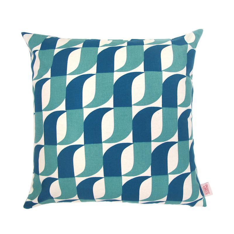 APERTURE THROW PILLOW by SKINNY LAMINX. These colourful and contemporary Throw Pillow covers are screenprinted front and back on a 100% Cotton basecloth.