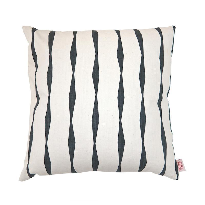 SKINNY LAMINX USA NEW YORK BRANCUSI STRIPE THROW PILLOW