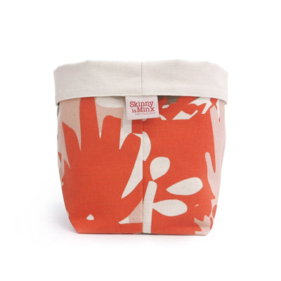 ROOF GARDEN SOFT BUCKET by SKINNY LAMINX. Use as a planter or to hold a variety of things such as hair accessories, baked goods etc. Designed and made in Cape Town, South Africa.SKINNY LAMINX NEW YORK USA ROOF GARDEN SOFT BUCKET