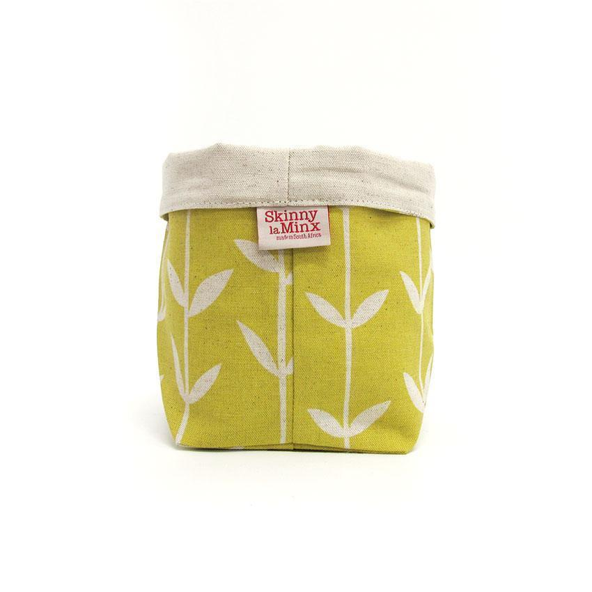 ORLA SOFT BUCKET by Skinny laMinx at SARZA. containers, fabric, holder, homeware, lemon, planter, planters, soft bucket, soft buckets, solid orla, storage, wedgewood