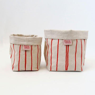 SIMPLE STRIPE SOFT BUCKET by SKINNY LAMINX. Use as a planter or to hold a variety of things such as hair accessories, baked goods etc. Designed and made in Cape Town, South Africa.
