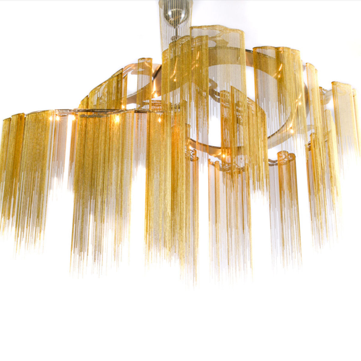 SPIRAL TREES ART PIECE CHANDELIER