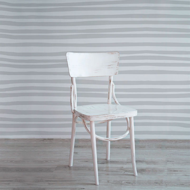 Stripes – Grey on White