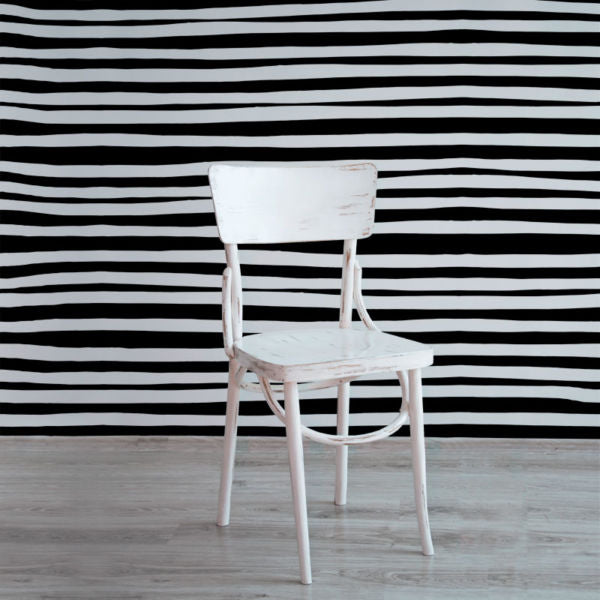 Stripes – White on Black