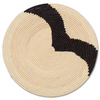 STRIPED BLACK + NATURAL RAFFIA PLATE II by Kazi Goods at SARZA. decor, Kazi Goods, wall art, wall baskets