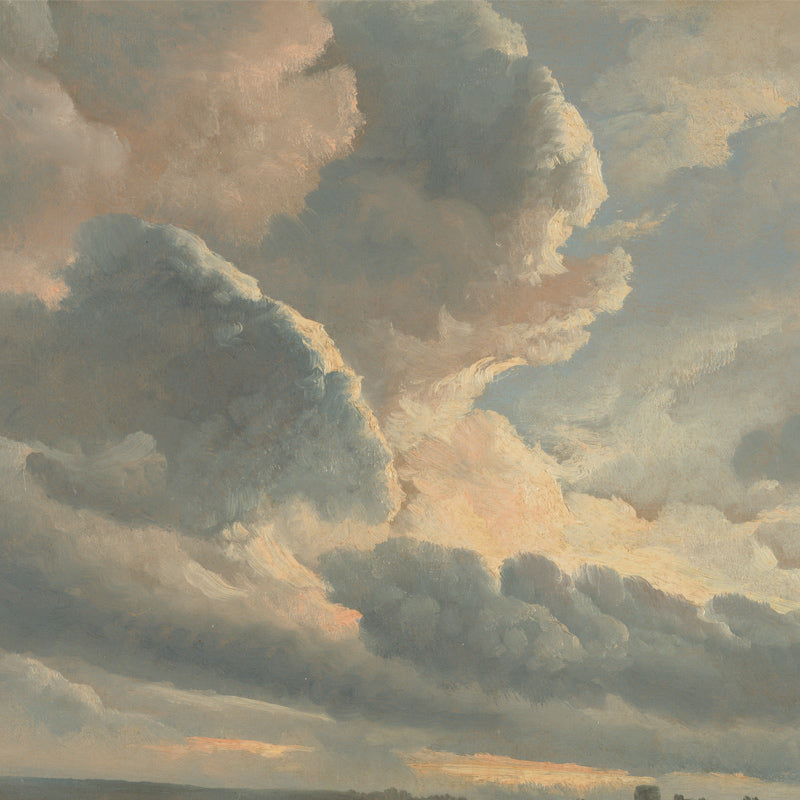 Study of Clouds with Sunset Near Rome