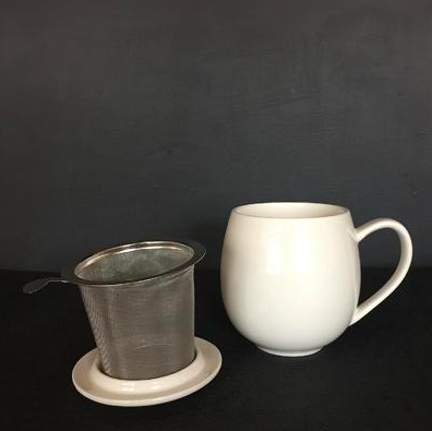 TEA MUG WITH STRAINER by Tay tea at SARZA. body & wellness, cups, mugs, tea, tea strainer