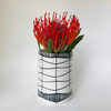 CYLINDRICAL PORCELAIN LINE VASE SMALL by Sharon Erichsen Ceramics at SARZA. Ceramics, Decor, homeware, line cylindrical, porcelain, Sharon Erichsen Ceramics, Vases