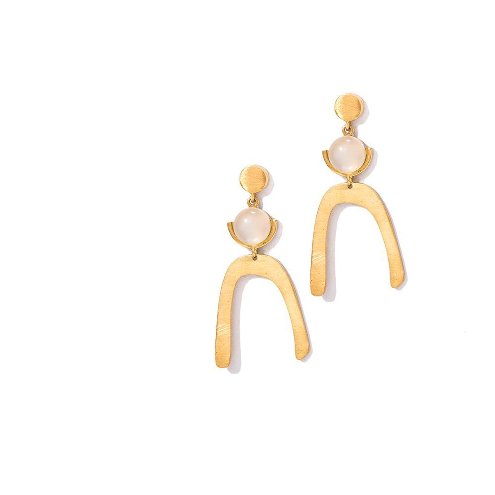 SUNKISSED EARRINGS by Kirsten Goss at SARZA. earrings, jewellery, jewelry, KG-EAR-SUN-G, KG-EAR-SUN-S, Kirsten goss, Kirsten Goss Vay-Kay, VE003, VE003G