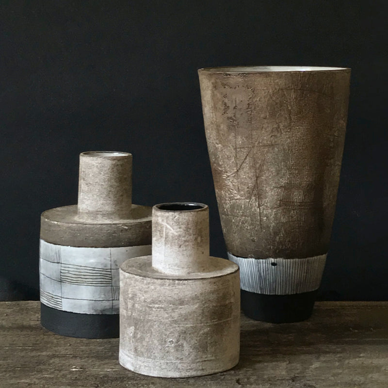 CERAMIC INKPOT VASE NATURAL EARTH COLLECTION by Helen Vaughan Ceramics at SARZA. Ceramics, decor, Helen Vaughan, Homeware, inkpot, Natural earth Collection, Vases
