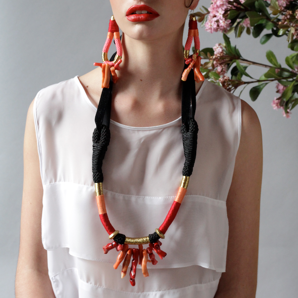 VELVET CORAL NECKLACE