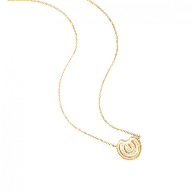 WILDCARD NO.22 NECKLACE - JEWELRY BY KIRSTEN GOSS. Short wildcard necklace with organic bean. Beautifully Handmade in 18kt gold vermeil.
