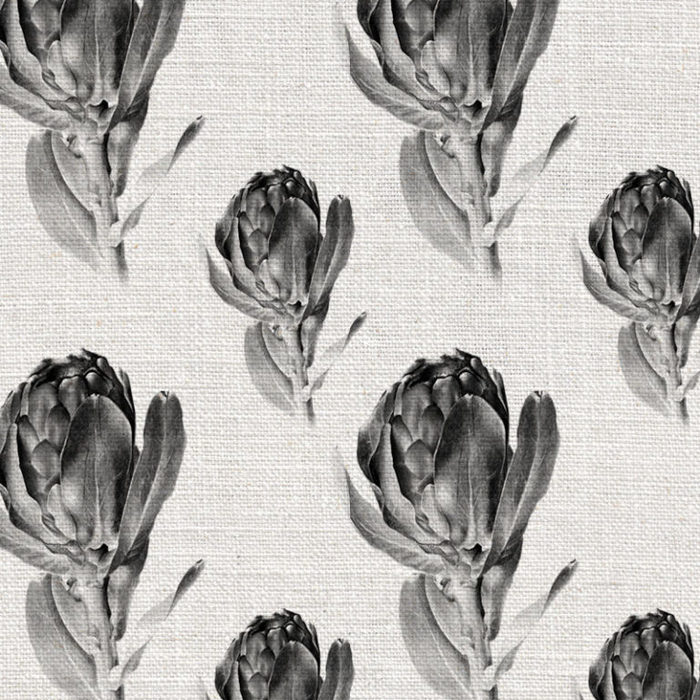 Protea Grandiceps Grey by Robin Sprong at SARZA. Botanical, Robin Sprong, Wallpaper, Willie Schlechter