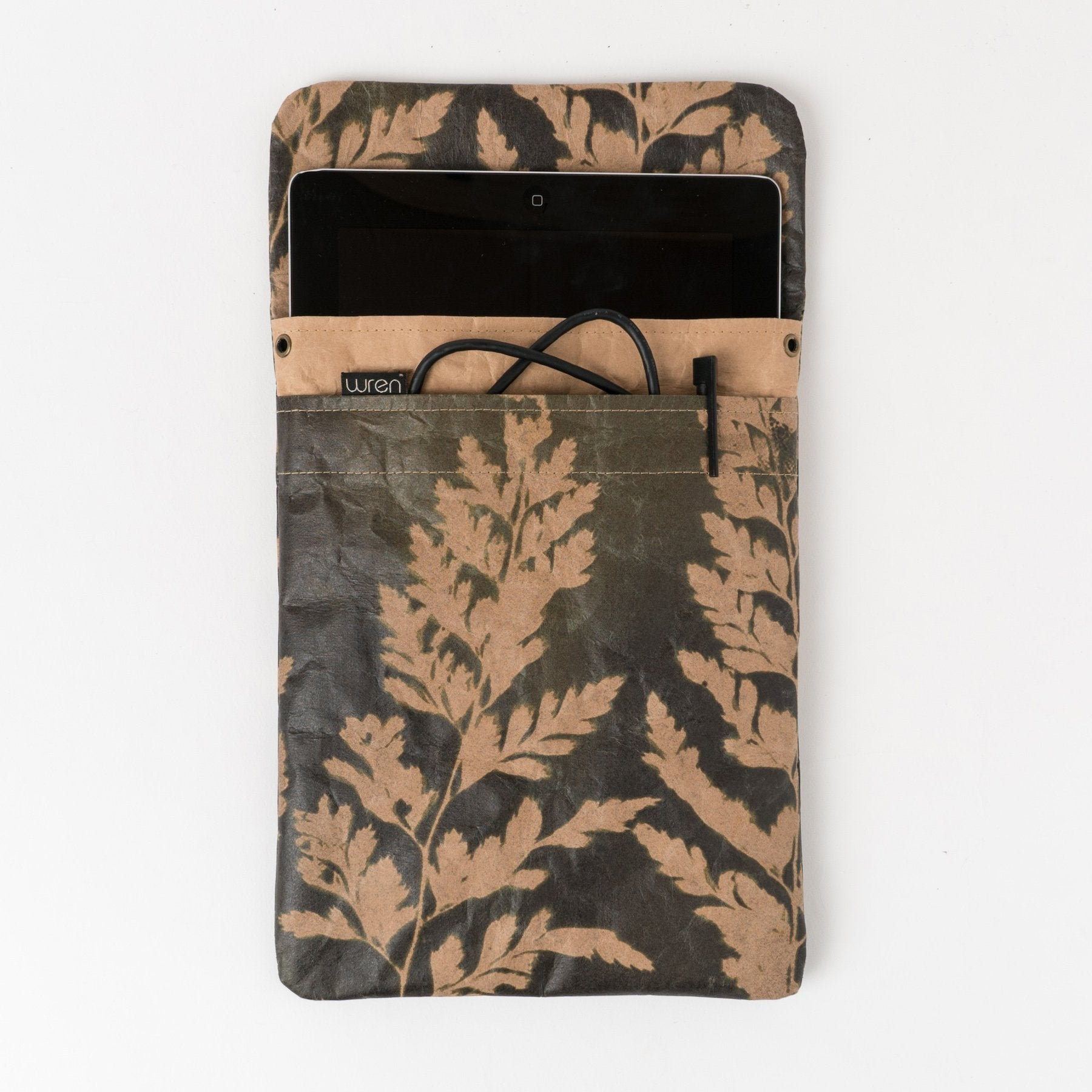 WREN USA NEW YORK IPAD SLEEVE FERN 3 - OLIVE