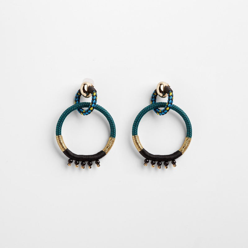 YOKED A EARRINGS by Pichulik at SARZA. earrings, jewellery, jewelry, PI-EAR-YOK-A, pichulik, yoked A