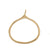 ONION PENDANT BY KIRSTEN GOSS JEWELRY. Polished, simple organic pendant to be clipped onto a lifesaver necklace. Handcut in 18kt yellow gold vermeil.