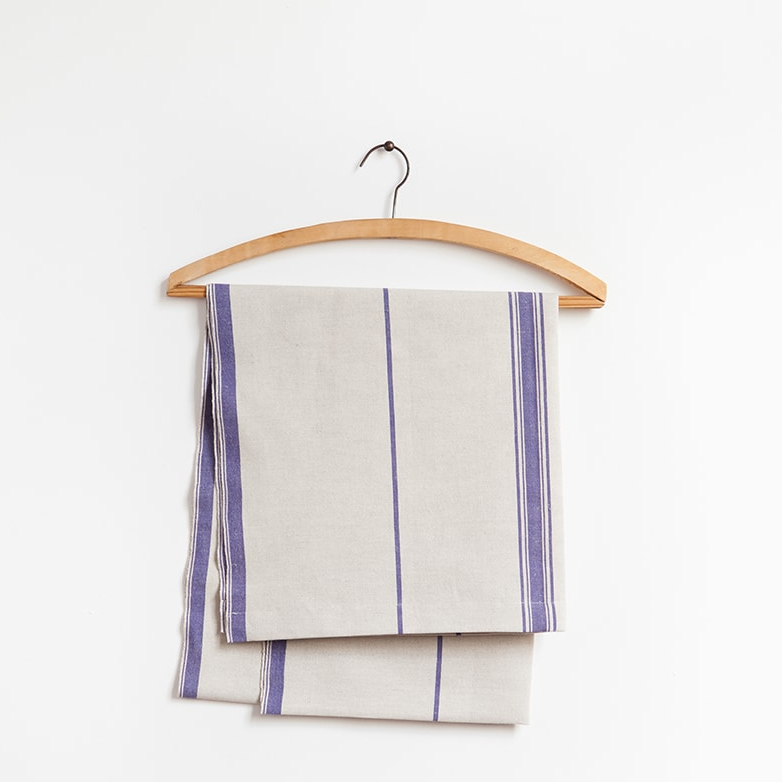 ALL BLUE LISBURN LINEN TABLE RUNNER by Mungo at SARZA. All Blue, cotton, linen, linens, Lisburn Table Runners, Mungo, runner, runners, table runners, tableware