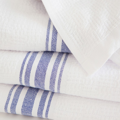 ALL BLUE WILLOW WEAVE TOWEL by Mungo at SARZA. 100% COTTON, All Blue, linens, mungo, towels, willow weave, willow weave towels