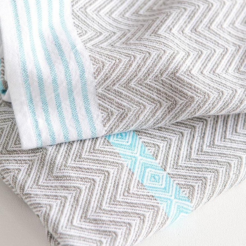 TAWULO TOWEL - AQUA by Mungo at SARZA. linens, mungo, tawulo, towels