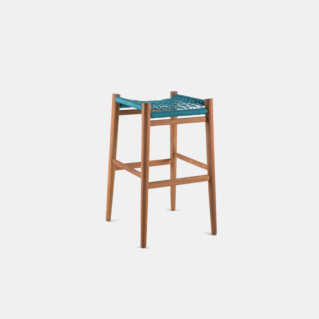 "The Nguni Backless Barstool 31.5"" by Vogel Design. Available in a selection of timbers and the woven seat is available in an assortment of patterns, weaves and colors."