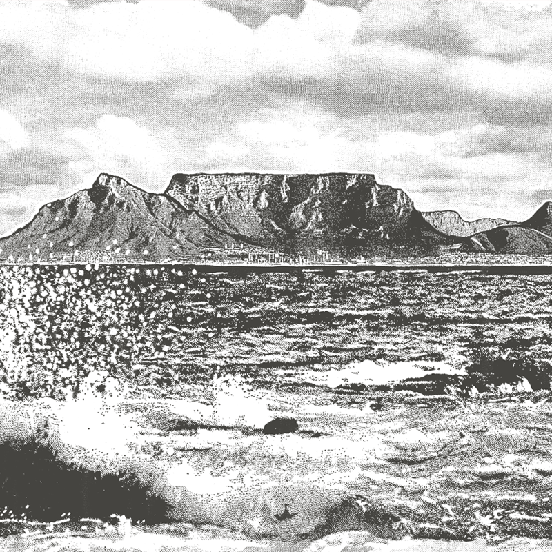 Cape Town Splash – Charcoal