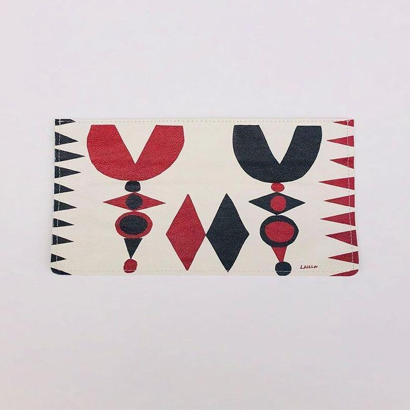 LALELA SCARF USA NEW YORK TULIP CLUTCH BAG