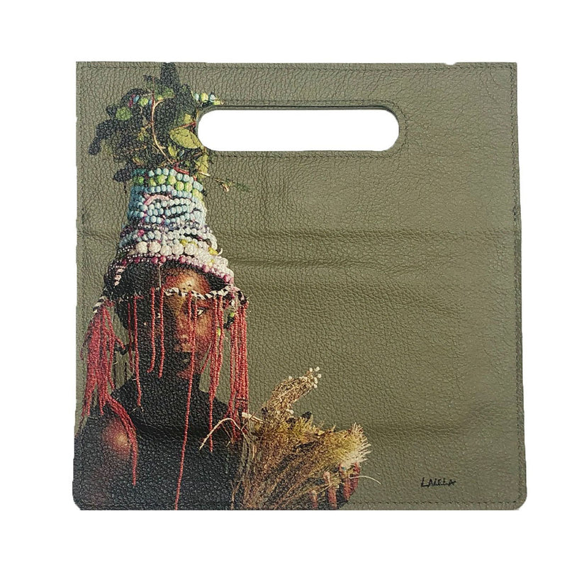 AFRICAN QUEEN GREEN CLUTCH BAG