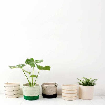 CYLINDER BASKET IVORY by Mia Melange at SARZA. 100% COTTON, baskets, cotton, cylinder, decor, homeware, ivory, mia melange, planters, STORAGE BASKETS, woven