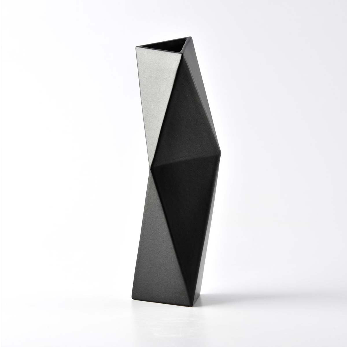 GRAPHITE FACET VASE by Vorster & Braye at SARZA. black, decor, facet, facet vase, homeware, VASES, Vorster&Braye