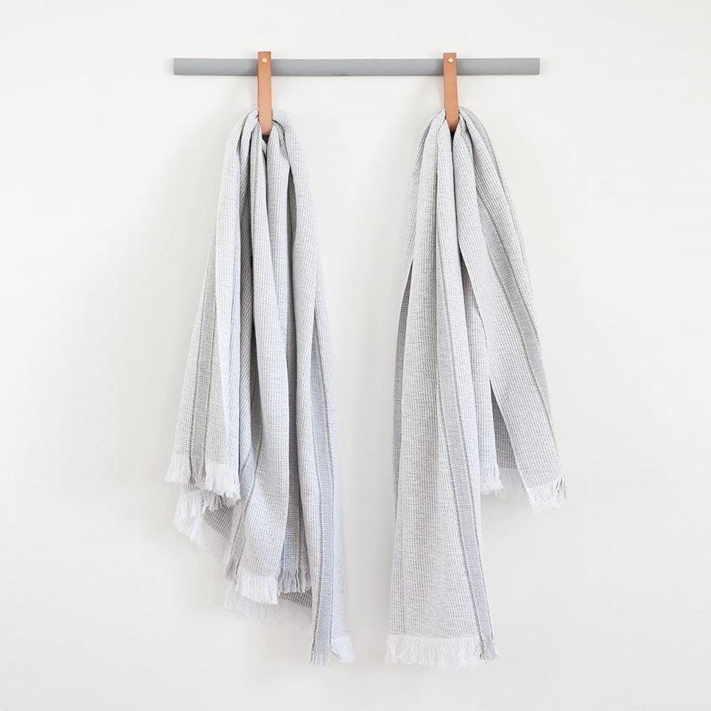 GREY SUMMER TOWEL by Mungo at SARZA. grey, linens, Mungo, summer towels, towels