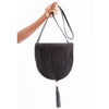 LIMA SLING HANDBAG BY ILUNDI. The result of a collaboration between Mia Melange & Ilundi Designs. This beautiful sling is made from black rope & black stained leather with tassel detailing in South Africa.