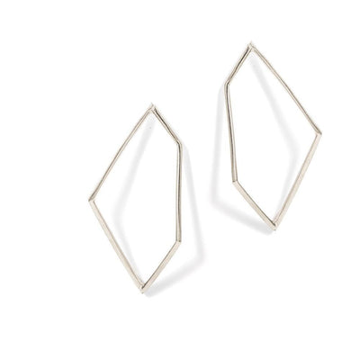 HERTZTON EARRINGS - JEWELRY BY KIRSTEN GOSS. Large, open geometric stud earrings. Beautifully handmade in Sterling Silver