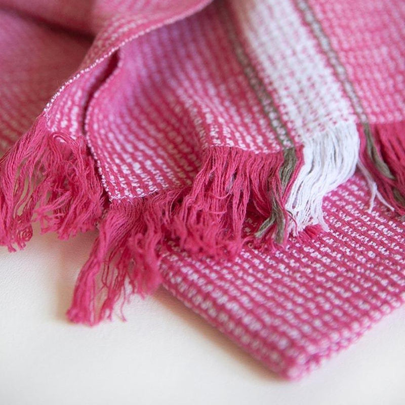 HOT PINK SUMMER TOWEL by Mungo at SARZA. cotton, hot pink, linens, Mungo, pink, summer, summer towels, towels