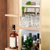 CAMPARI DRINKS CABINET BY JAMES MUDGE. This striking Campari Drinks Cabinet is a statement piece inspired by Venice's romanticism, encompassing oak, blacked oak & brass elements.