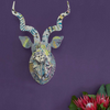 HEAD ON DESIGN USA NEW YORK KUDU WITH ARTIST PRINT - CAPE LEOPARD