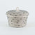 LIDDED BOWL BASKET STITCHED by Mia Melange at SARZA. 100% COTTON, baskets, bowls, containers, cotton, decor, gifting, homeware, lidded, mia melange, MM-LID-BOW-BAS-STI, woven