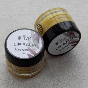 LIP BALM - ROSE GERANIUM by O'live at SARZA. balms, body & wellness, gifting, lip balm, Olive, rose geranium
