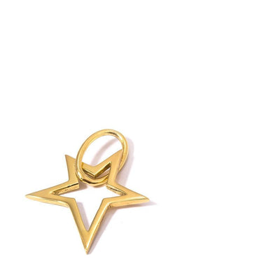 LUCKY STAR PENDANT - JEWELRY BY KIRSTEN GOSS. Hand cut star shaped pendant designed to attach to the signature lifesaver necklaces. Beautifully handmade in 18kt gold vermeil.