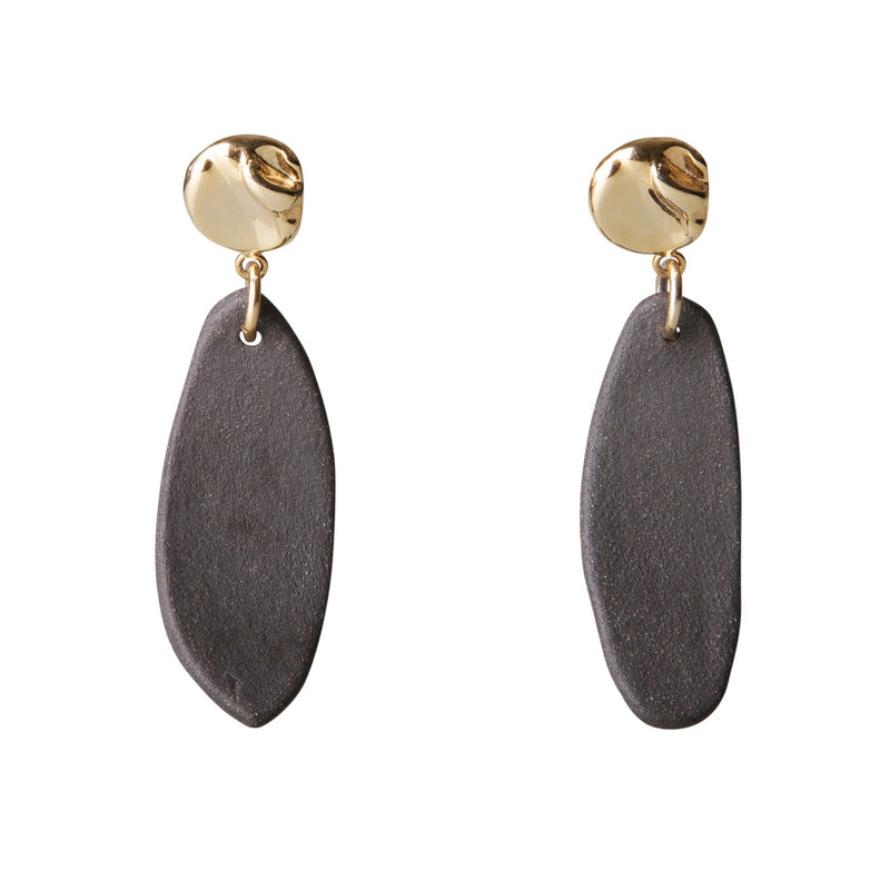 MADEMOISELLE EARRINGS by Henriette Botha at SARZA. botha, ceramic, earrings, Henriette Botha, jewellery, jewelry, mademoiselle