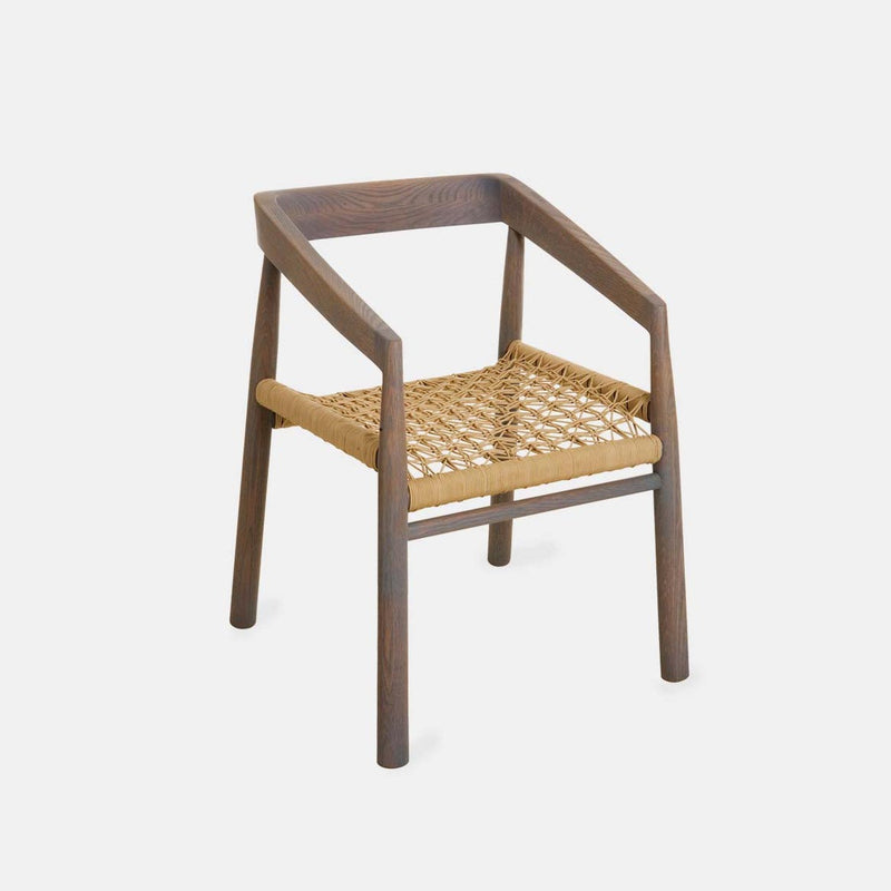 The Magnet dining chair by Vogel Design. Made from a selection of timbers and finishes, it features an incredibly comfy customizable woven base.