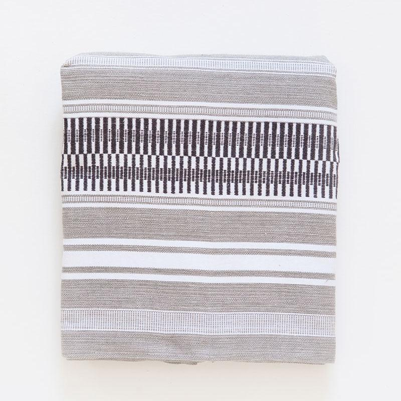 MALI TABLE RUNNER - ROLLED GREY by Mungo at SARZA. linens, Mali, mungo, runners, table runners, tableware